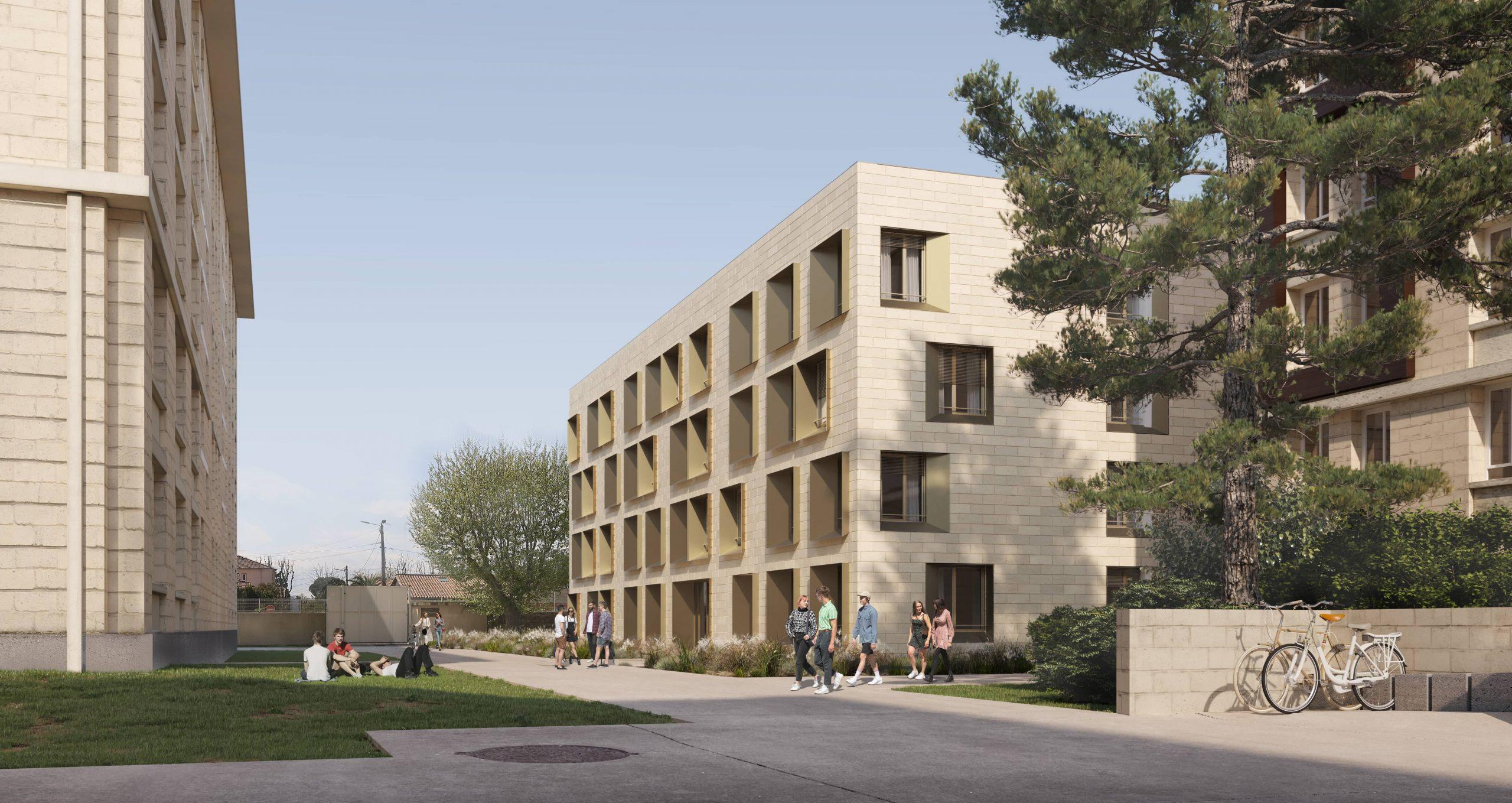Jumeau Architectes l CROUS l Montpellier l inui
